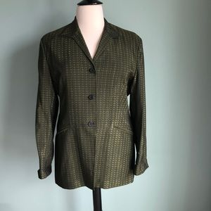 Jones New York green/black jacket 16